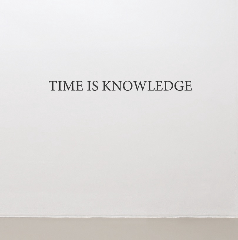 Time is knowledge by Dimitri Mallet at Snark.art